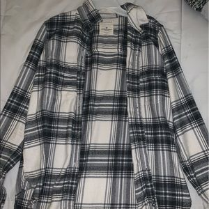 classic fit black, grey, and creme soft flannel